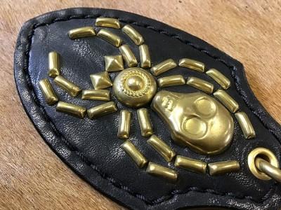 真鍮スパイダーキーホルダー (4)