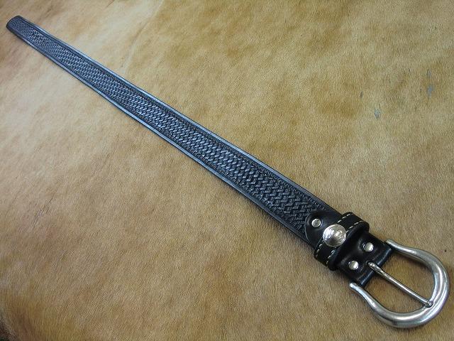 バスケットスタンピングベルトHSC手縫いステッチ (2)