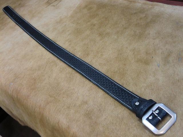 バスケットスタンピングベルトA1手縫いステッチ (4)